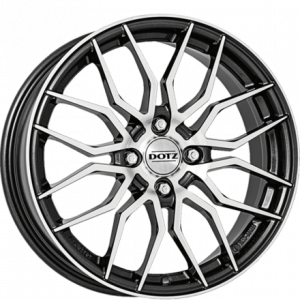 Cerchi in lega  DOTZ  Interlagos dark  18''  Width 7,5   5x114,3  ET 45  CB 71,6    Gunmetal/polished