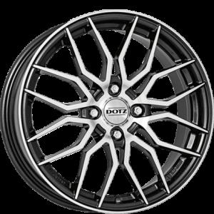 Cerchi in lega  DOTZ  LimeRock dark  17''  Width 7   4x100  ET 38  CB 60,1    Gunmetal/polished