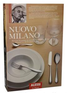 ALESSI SERVIZIO DI POSATE MODELLO NUOVO MILANO 24 PEZZI DESIGN ETTORE SOTTSASS 5180S24M