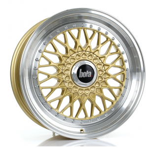 Cerchi in lega Bola  TX09  18''  Width 8.5   5X115  ET 20 TO 38  CB 73,1  Gold Polished Lip