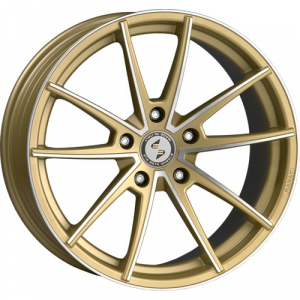 Cerchi in lega  DELUXE  Manay-K  20''  Width 9   5x120  ET 35  CB 78,1    Matt Gold Full Polish
