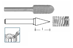 Fresa rotativa a punta HSS mm 15 Ineco