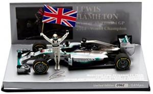 Mercedes AMG Petronas F1 Team Lewis Hamilton Winner Abu Dhabi World Champion 2014 1/43