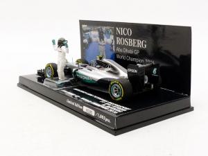Mercedes AMG Petronas Motorsport  F1W07 Hybrid Nico Rosberg Abu Dhabi GP 2016 1/43