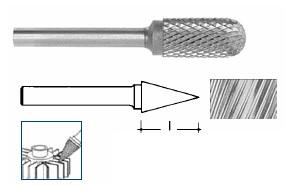 Fresa rotativa a punta in Metallo Duro mm 16 Ineco