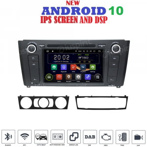 ANDROID 10 autoradio navigatore per BMW serie 1 BMW E81 BMW E82 BMW E88  GPS DVD WI-FI Bluetooth MirrorLink
