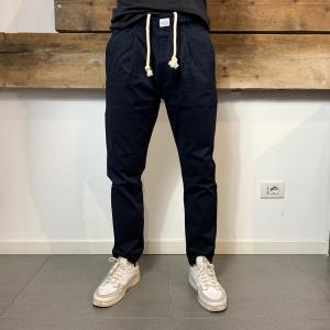 Pantalone Bakery Lowan Gabardine Blu Scuro