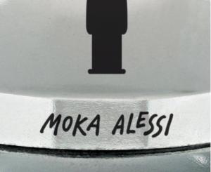 ALESSI CAFFETTIERA MOKA 1 TAZZA ALTEZZA CM. 13,8 DESIGN ALESSANDRO MENDINI AAM33/1