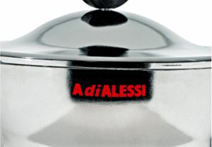 ALESSI CAFFETTIERA MOKA 3 TAZZE ALTEZZA CM. 16,4 DESIGN ALESSANDRO MENDINI AAM33/3