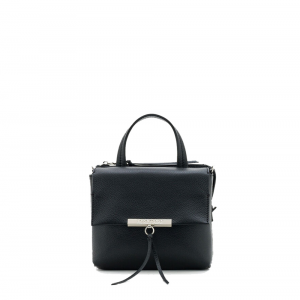 Mini Bag Flappy pelle nera - PATRIZIA PEPE