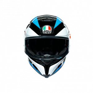 Casco AGV K5 S Core Black/Cyan/Yellow-Fluo