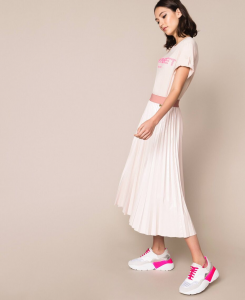 SHOPPING ON LINE TWINSET MILANO GONNA LONGUETTE IN SIMILPELLE LUCIDA NEW COLLECTION WOMEN'S SPRING SUMMER 2020