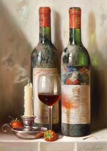 Red wine - Stampa su tela
