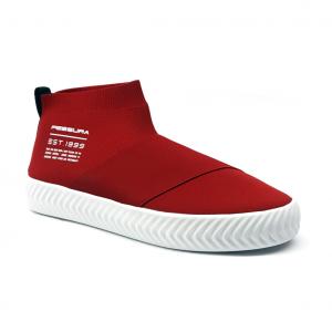 Sneaker rossa in tessuto Fessura