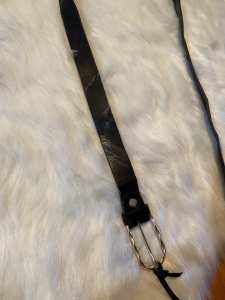Cinturino Vicolo in pelle con Fibbia Argento