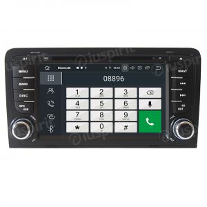 ANDROID 10 autoradio 2 DIN navigatore per Audi A3 Audi S3 2002-2011 GPS DVD WI-FI Bluetooth MirrorLink