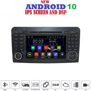 ANDROID 10 autoradio 2 DIN navigatore per Mercedes classe ML W164, ML300, ML350, ML450, ML500, Mercedes classe GL X164/GL320 GPS DVD WI-FI Bluetooth MirrorLink