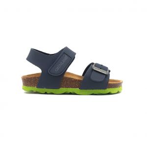 Sandalo blu/lime Grünland