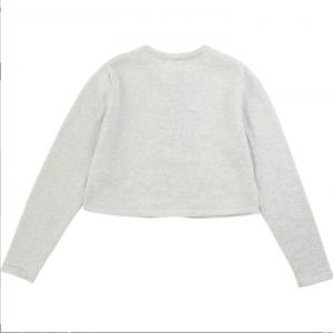 Cardigan in cotone glitter grigio Carrément Beau