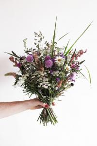 il vero mazzo di fiori  di campo