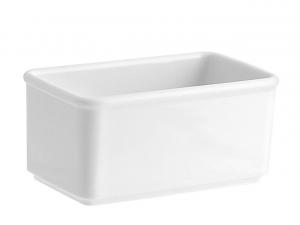 Portabustine da tè e zucchero in porcellana bianca cm.14,7x8,7x7h
