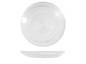 Sottobicchiere in vetro trasparente cm.diam.11