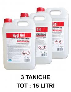 3 X GEL IGIENIZZANTE MANI più del 70% alcol SPEDIZIONE 24/48 ORE per le mani in tanica da 5 Kg a base di alcol 65-75% - Per la disinfezione e sanificazione mani-2