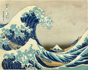 Grande onda Kanagawa - Stampa su tela