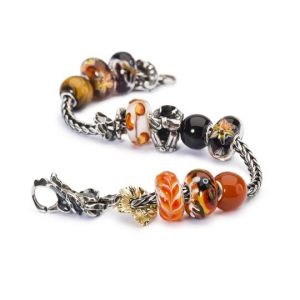 Beads Trollbeads, Onice Rosso Rotondo