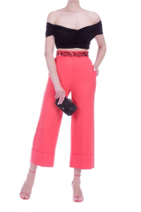 Pantalone Elisabetta Franchi PA33302E2 V84POMPELMO -19