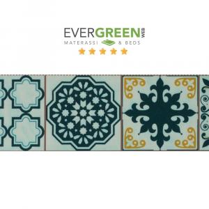 Tovaglia Antimacchia Impermeabile in Cotone 100% NATURALE, Design Maiolica Decorazione della Tavola da Pranzo | MAIOLICA