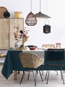 Tovaglia in Lino 100% NATURALE, Design Elegante cone per la Tavola da Pranzo 100% Made in Italy | STONE WASH