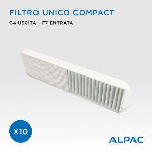 Filtro unico di ricambio Compact - CONF. PROMO x10 - per Alpac VMC Compact, Iki e Shu e Climapac VMC Compact, Aliante, Arias