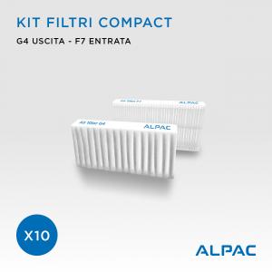 Kit ricambio filtri Compact - CONF. PROMO x10 - per Alpac VMC Compact, Iki e Shu e Climapac VMC Compact, Aliante, Arias