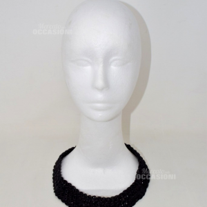 Necklace Black Girlocollo Gas