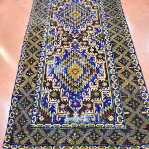 Carpet Persian 108*200 Cm Color Blue Brown (defective Al Center)