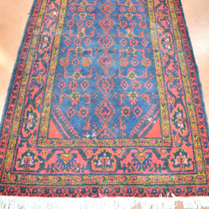 Carpet Persian Blue Dark And Red 116*200 Cm (defects)