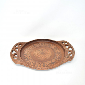 Tray Wood Made In Italy Decorated