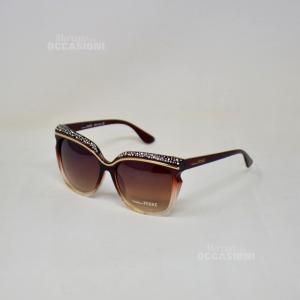 Sunglasses Ferrè Gf86302ru Brown Shiny With Glitter Lens Brown