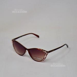 Sunglasses Ferrè Gf84403 Tortoiseshell Clear Ferragni Lens Brown