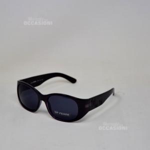 Sunglasses Ferrè 9777ru Black With Rosettes Of Field Lens Black