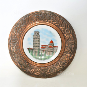 Copper Plate And Ceramic With Pisa