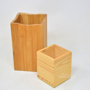 Pair Container Wood