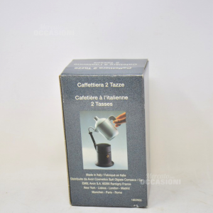 Caffettiera 2 Tazze Con Porta + Lattiera