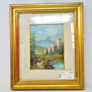 Painting Castle With Lake 37*43cm