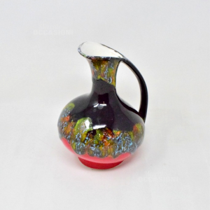 Carafe Enameled Black Red