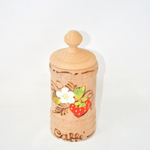 Holder Wooden Coffee Hand Painted