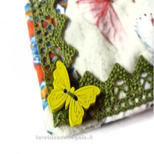 Presina farfalle da appendere in stoffa 16x16 cm - Handmade - Italy