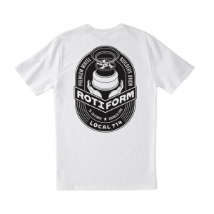 T-Shirt ROTIFORM LOCAL 714 for man - Bianca e Nera
