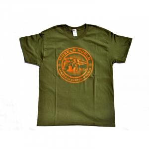 T-Shirt T-ONE for man - Verde Oliva e Arancio